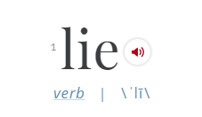 Definition of Lie_Merriam Webster